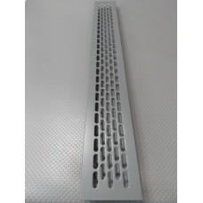 Алюмінієва решітка 480*60мм колір RAL7012